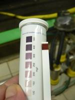 Peressigsäure-Teststreifen (Nachweis der Konzentration)
